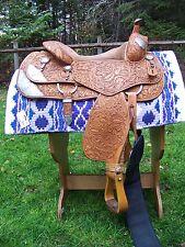 "Earl Twist Show Saddle - Semi-Quarter Horse Bars - 16"""