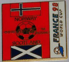 norway v scotland 1998 world cup badge collectors tray