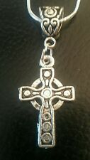 """Beautiful Sterling Silver 16"""" necklace with CELTIC CROSS 1st Communion Poison Box"""