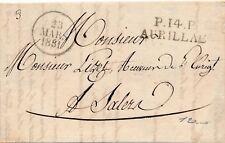 Lettre Le receveur de L'Hospice P.14.P Aurillac Bloc Dateur Salers Cantal Cover