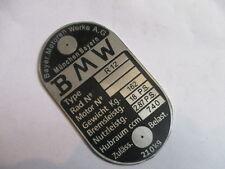 Typenschild BMW R 12 R12 18 PS 162 kg  Oldtimer Schild geätzt S21