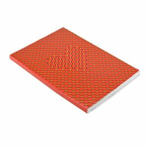 Daycraft A4 Lined Paper Notebook Illusions Red Yellow Cover Stationary Notepad