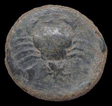 New ListingSicily, Akragas. Circa 415-406 Bc. Æ Hemilitron, Eagle / Crab