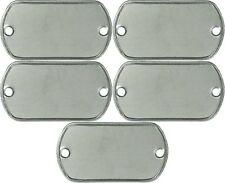 5 Pack 2 Hole Dog Tag Matte Stainless Steel Military ID Tags