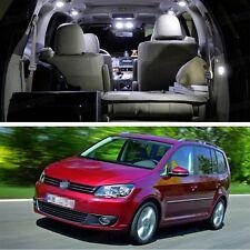 9Pcs White Error Free LED Lights Interior Package Deal for Volkswagen Touran
