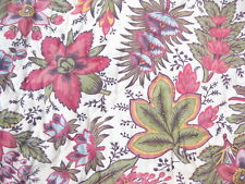 Pottery Barn Floral Standard Sham Pink Green Purple Flowers and Leaves