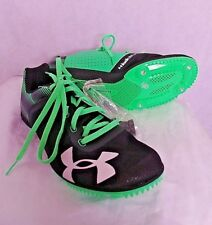 New Under Armour Racing Kick Distance Running Shoes Green/Black Men's 9.5