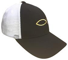Black & Gold Jesus Fish Mesh Golf Cap Hat Caps Religious Hats God Christian