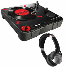 Numark PT01 Scratch Portable Turntable with Professional DJ Headphones