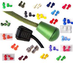 🇬🇧 2 Toggle clip end zip cap cord bell stopper crimp various colours UK