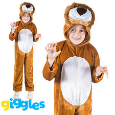 Girls & Boys Lion Costume World Book Day Week Fancy Dress Outfit Jumpsuit