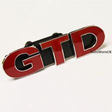GTD Front Grill Badge Emblem Decal VW Golf MK MK5 MK6 MK7 Mark 5 6 7 GT TDI VII