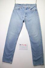 Levi's 501 (Cod.H1618) Tg.48 W34 L36 jeans usato vintage denim stone wash