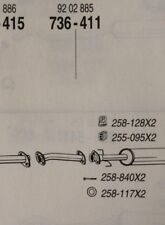 Cat 736 411 Vauxhall Vectra I 1.6i,1.8i (further details in desc)