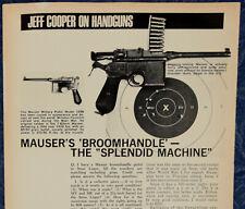 "ORIGINAL Article ""MAUSER'S Broomhandle-'The Splendid Machine'"" 1-p Magazine 1970"