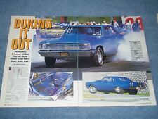 """1969 Dodge Dart Drag Car Article """"Duking it Out"""""""