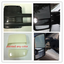 For 14-18 Silverado Sierra Paintable Tow Mirror Power Heated Smoked LED Signal