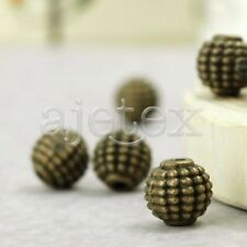 50pcs Antique Brass Tube Beads Charms Pendants TS0912-4