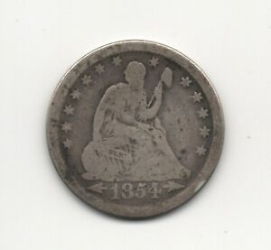 1854 Arrows Liberty Seated Quarter Good