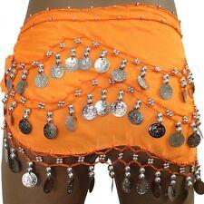NEW Dancing Coin Chain Belly Dance Sequin Hip Skirt Scarf Wrap Belt Waistband