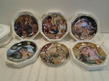 Little Rascals Franklin Mint Collector Plate Lot of 7 Our Gang