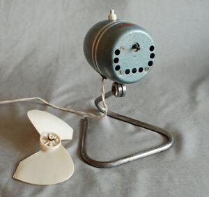 "Antiker Ventilator ""Burg Waldi Austria"", Hammerschlag, Chrom, 50er 60er Vintage"