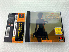 """Tomb Raider IV 4 + Spine """"Good Condition"""" Sony PS1 Playstation Japan"""