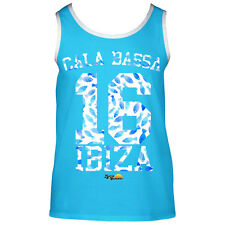 Cala Bassa Ibiza Men's Muscle Tank Beach 16 Vest Top Fish Blue Lost in Summer