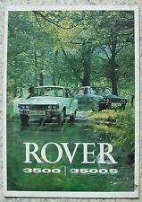 ROVER 3500 & 3500S Car Sales Brochure 1972 GERMAN TEXT #815/11.72/German