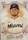 2021 Topps Allen Ginter Rookie Nick Neidert Miami Marlins Card No. 300. rookie card picture