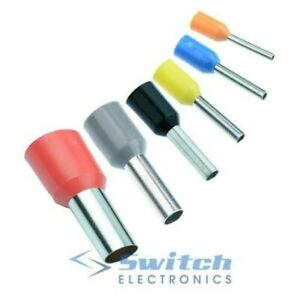 Insulated Cord End Bootlace Cable Terminals Ferrules 0.25mm² - 35mm²