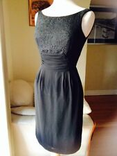 JANE  LAMERTON  black/laced, sleevless dress,size 8.Formal,wedding,party.