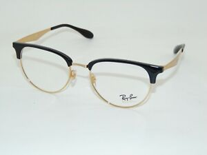 Ray Ban RB 6396 5784 Black/Arista Gold 53mm RX Authentic Eyeglasses