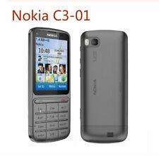 Original Unlocked Nokia C3-01 mobile phone 2.4 'Inch 5MP Camera 1050mAh Phone