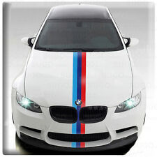 "BMW M-POWER 3-Colored EURO Body Vinyl Racing Decal DIY Sticker Stripe 10"" Set"
