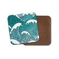 Great Wave Print Coaster - Japan Japanese Sea Wave Asian Cool Fun Gift #13106