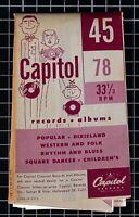 Vintage Capitol Records Vinyl Albums 78 rpm Order Form 1950's Advertisement