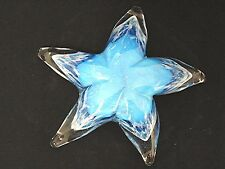 """Glass Star Paper Weight 6"""" Diameter StarFish Home Office Bed Bath Gift Decor"""