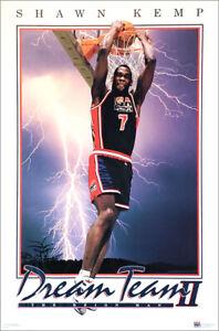 SHAWN KEMP Team USA Basketball Dream Team II 1994 FIBA POSTER 23x35