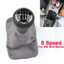 5 Speed 12mm Gear Shift Knob Stick Gaiter Boot Cover For VW New Beetle 1998-2005