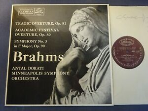 BRAHMS - SYMPHONY NO 3 / OVERTURES LP, MSO, Antal Dorati, MERCURY MMA 11138