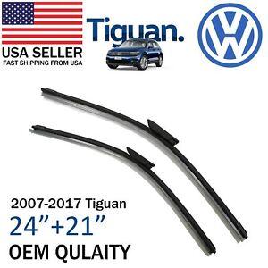 Brand New Premium OEM Quality 24+21 Wiper Blades For 2007-2017 Volkswagen Tiguan