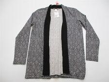 new H&M Women's Size S Geometric Open long Sleeve Black/White Cardigan #K1207