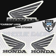 "X2 ""CARBON LOOK"" BIKE FAIRING/FENDER/GAS FUEL TANK LOGO DECAL STICKER HONDA WING"