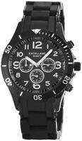 Excellanc Damenuhr Schwarz Chrono-Look Analog Metall Armbanduhr X150971000001