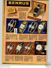 1958 PAPER AD 4 PG Benrus Wrist Watch Citation Shane 21 Jewel Sky Cadet Beau