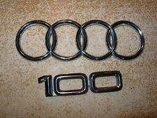 Audi 100 Plastic chrome emblem decal logo