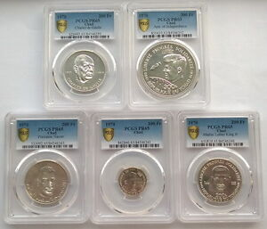 Chad 1970 Independence PCGS Set of 5 Silver Coins,Rare!,Mtg only 435 Sets