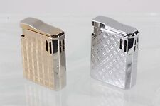 SET OF TWO SILVERTONE & GOLDTONE COLIBRI CIGARETTE LIGHTERS 0079B