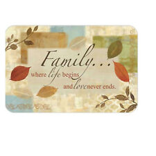 NEW Family Sentiment Reversible Vinyl Kitchen Dining Table Placemats - Set of 6